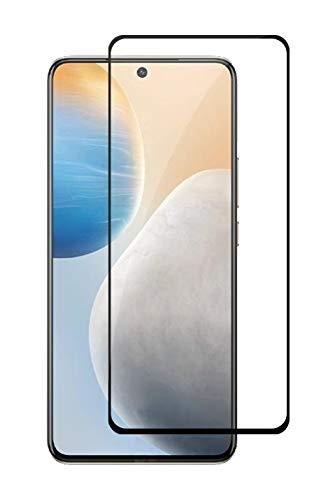Soezit 5D Full Tempered Glass Screen Protctor for Vivo X60 5G – Black with Easy Installation Kit