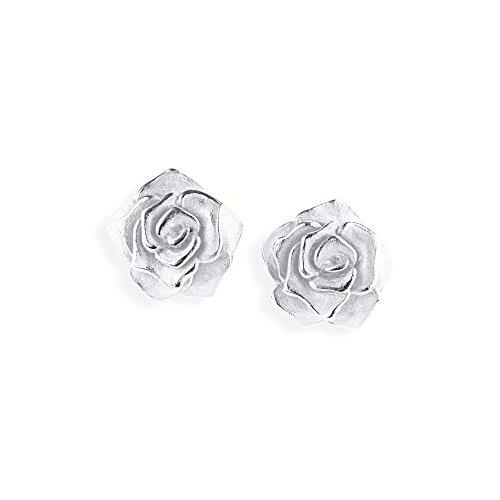 Drachenfels edle Rosen-Ohrstecker | Ohrstecker Set Silber 925 Sterling | Elegante Design Ohrringe für Damen in Rosenform