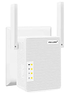 TOMOT Repetidor WiFi, 300Mbps Extensor WiFi, Amplificador WiFi 2.4GHz con Repertidor/Ap Modo y la función WPS, 1 Puerto Fast Ethernet Wireless Amplificador