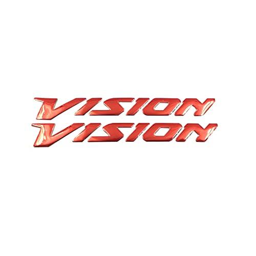 para Honda Vision 2017 Vision11 0CC Vision50 CBS NSC50 Estéreo Logo Cuerpo Insignia Pegatina Decoración Motocicleta Scooter (Color : 1)
