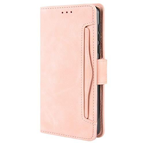 HualuBro Handyhülle für Huawei Mate 40 Pro Plus Hülle Leder, Flip Hülle Cover Stoßfest Klapphülle Handytasche Schutzhülle für Huawei Mate 40 Pro+ Plus Tasche (Pink)