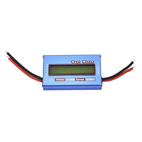 Wattmeter, DC 60 V 100 A vermogenmeter RC digitale vermogenstester wordt gebruikt in gelijkstroomcircuits, zonnesystemen, boot-/camper- en batterijbeveiligingssystemen.
