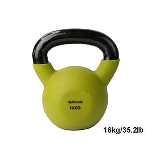 Kettlebells AGYH Farbige Gusseisen, Gewicht Tragenden Gewichtheben Hanteln for Den Hausgebrauch, Verwendet for Kniebeugen, Hüften Und Dünne Arme Übungen, 16kg / 35.2lb (Color : Blue)