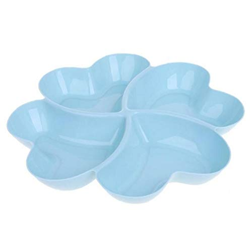 Heart Shaped Fruit Platter Serving Tray Plates Storage Box Container for Snacks Nuts Desserts(Random Color)