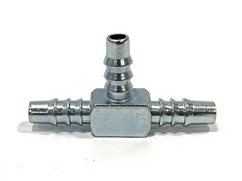 """CMParts - Conector metálico tipo""""TE"""" para tubo de gasolina de 6mm. de interior"""