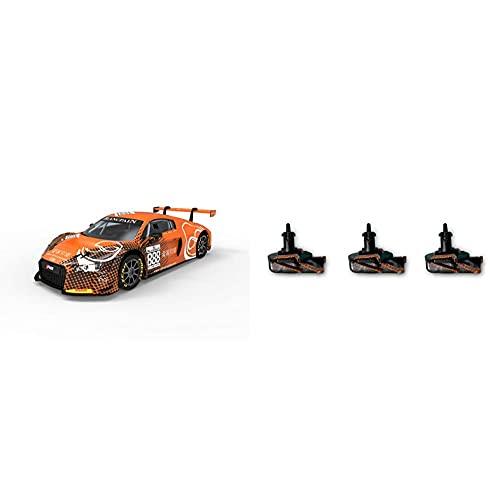 Scalextric -Audi R8 LMS Gt3 Motorsport Coche Pista, Color Naranja (Scale Competiton Xtreme 1) + -Audi R8 LMS Gt3 Motorsport Coche Pista, Color Naranja (Scale Competiton Xtreme 1)