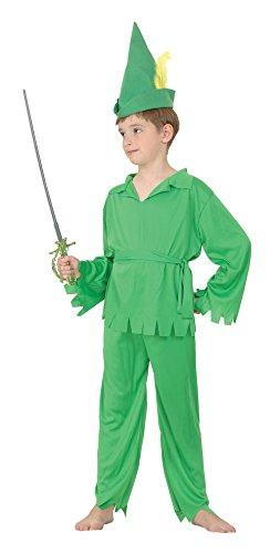 Bristol Novelty CC514 Traje Peter Pan Robin Hood, Pequeño, 110 - 122 cm, Edad aprox 3 -5 años