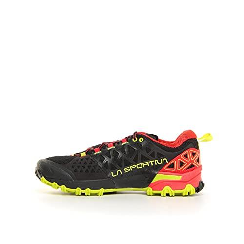 La Sportiva Bushido II, Zapatillas de Senderismo Hombre, Black/Goji, 40 EU
