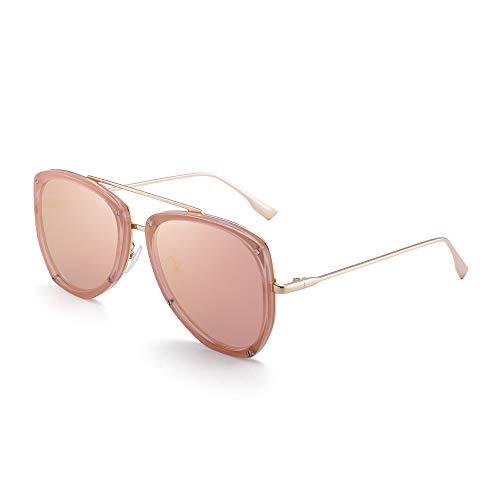 JIM HALO Gafas de sol de aviador para mujer con protección UV,...
