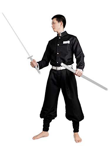CoolChange Uniforme de Demon Slayer   Disfraz de Kimetsu no Yaiba   Negro   Talla: L
