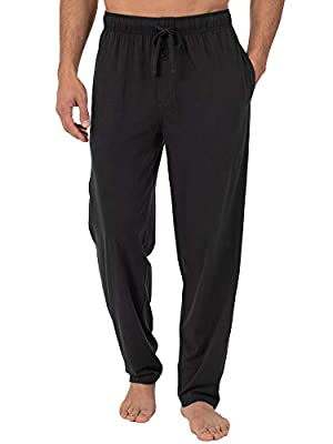 Fruit of the Loom Men's Extended Sizes Jersey Knit Sleep Pant (1-Pack), Black, X-Large from Fruit of the Loom Men's Sleepwear