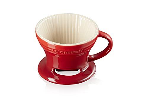 Le Creuset Stoneware Pour Over Coffee Cone, 3.25', Cerise