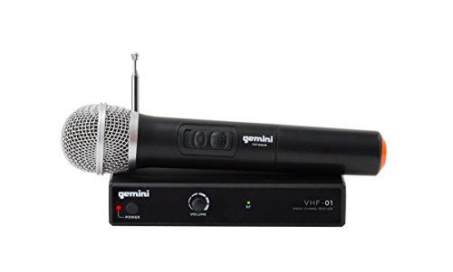 Gemini VHF Series Professional Audio Single Channel Wireless VHF System and Handheld Microphone