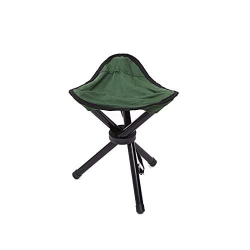Pyude Taburete portátil para Acampar Taburete de Tres Patas para montañismo Banco de Camping Plegable Silla de Estructura Ligera Silla de Pesca portátil para Acampar Senderismo Pesca Viajes