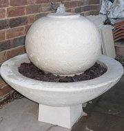 stone garden water fountain, Modern Contemporary Ball Fountain self contained outdoor ornate garden water feature