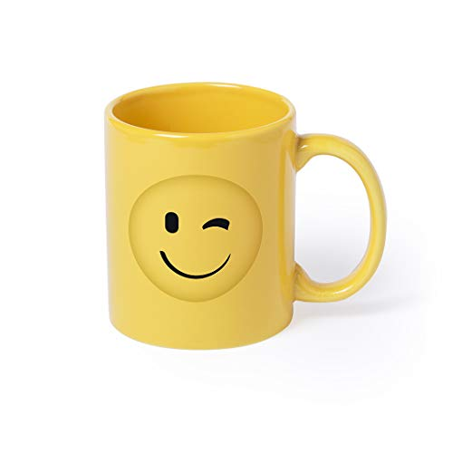 lustiger Kaffeebecher, Keramiktasse Becher Trinkbecher mit Smiley-Gesicht versch. Ausführungen 370 ml Fassungsvermögen von notrash2003 (Zwinkern)