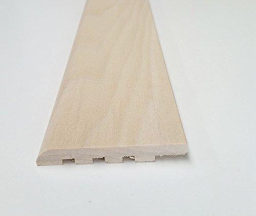 Battiscopa in legno massiccio in aste da 2300 mm | confezioni da metri 11 (9x69, Toulipier grezzo da verniciare o laccare)