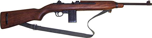 Denix Carabina USM1 Segunda Guerra Mundial 1940 Réplica de Arma Falsa de Airsoft, Unisex Adulto, Negro, Talla Única