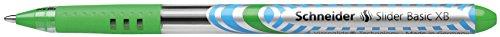 Schneider Slider Basic XB Ballpoint Pen, Light Green, Box of 10 Pens (151211) Photo #8