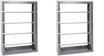 Durham 368-95 Gray Cold-Rolled Steel Wire Spool Rack with 4 Rods, 26-1/8' Width x 37-1/8' Height x 6' Depth (2-Pack)