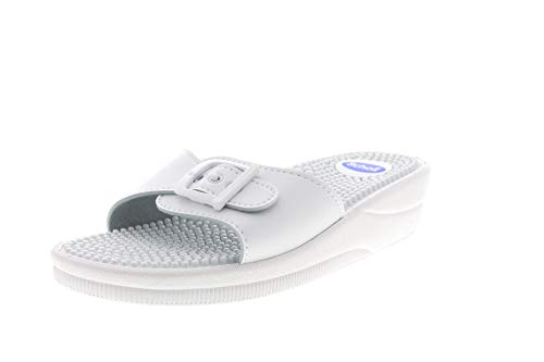 Scholl Chanclas de Playa New Massage Blanco 35