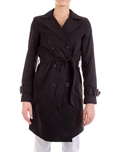 ONLY Damen Mantel Jacke onlVEGA Trenchcoat OTW Übergang lang schwarz (M)