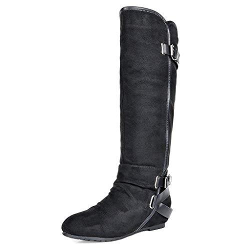 (50% OFF Coupon) Women's Knee High Low Hidden Wedge Boot $18.50