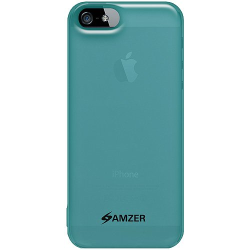 Amzer Soft Gel TPU Gloss Skin Fit Case Cover for Apple iPhone 5, iPhone 5S, iPhone SE (Fits All Carriers) - Translucent Blue