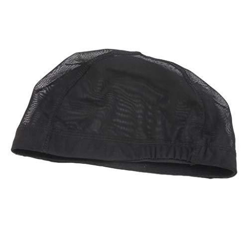 Sharplace Perruque Cheveux Tissage Bouchon Maille Etirement Net Doublure Noir