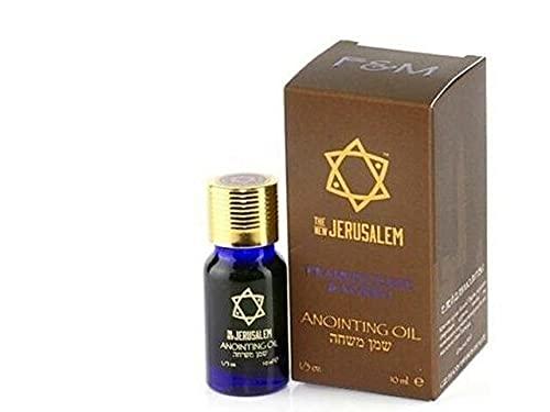 Auténtico aceite de oliva virgen extra puro de la Unción Bendita de Israel aroma único (10ml, Frankincense & Myrrh)