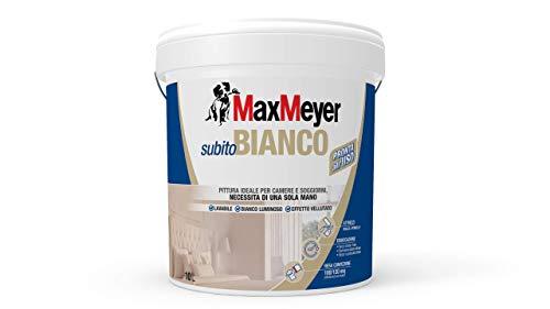 MaxMeyer Pittura per interni Lavabile Subitobianco BIANCO 10 L