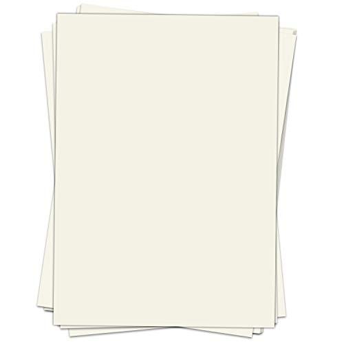 50 Blatt Briefpapier (A4) | Alt-weiss Vintage | Motivpapier | edles Design Papier | beidseitig bedruckt | Bastelpapier | 90 g/m²