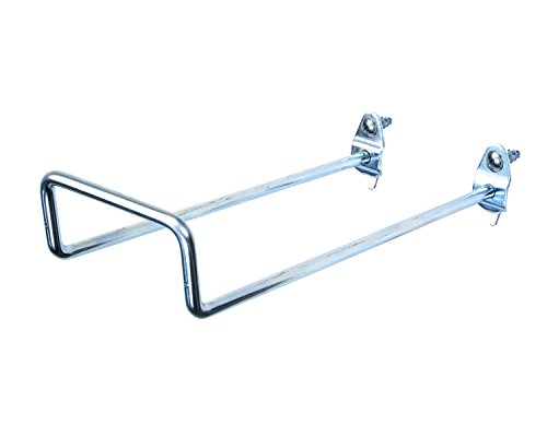 DuraHook Triton Products 76828 8-Inch 30-Degree Bend 2-3/4-Inch I.D. Zinc Plated Steel Double Closed End Loop Pegboard Hook for DuraBoard or 1/8 Inch and 1/4 Inch Pegboard, 5-Pack