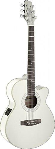 Stagg SA40MJCFI-WH Electro-Acoustic Mini Jumbo Guitar