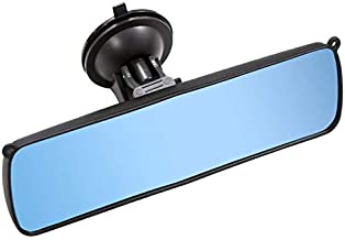 KITBEST Anti Glare Rear View Mirror, Suction Cup Rearview Mirror Universal Car interior Mirrors, 360 Degree Adjustable Antiglare Auto Inside Blue Mirror for Car, SUV, CRV, Vans and Trucks