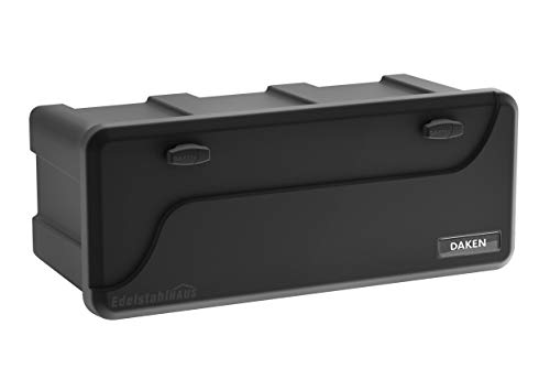 Blackit L - 750 x 300 x 355 mm, Deichselbox mit 2 Schlösser, Werkzeugkasten für Anhänger Staukiste 50 ltr Anhängerbox, Daken B50-2 - 5