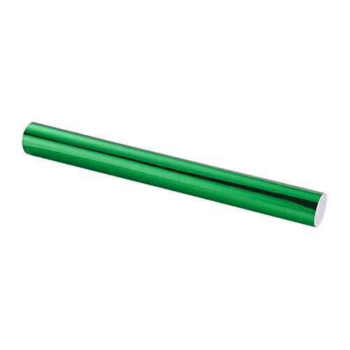 Pegatina Coche Espejo cromo Película de vinilo Foil Colorido Colorido Cuerpo de Coche Películas de Coche Vinilo Pegatina Etiqueta Calcomanía Lanzamiento de Air Film (Color Name : Green)