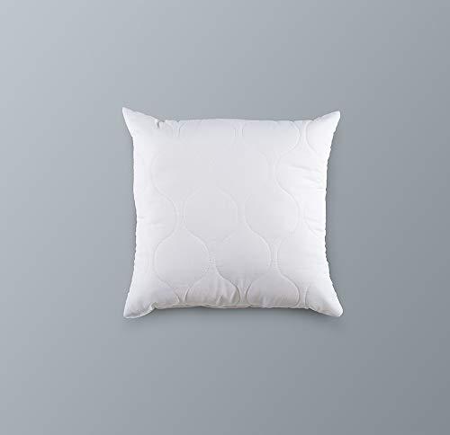 Cojín Blanco Kaliope, 40 x 40 cm, Relleno de Bolas de poliéster, Forrado con Tela de polialgodón, increíblemente Suave, elástico y Agradable al Tacto, Ideal para tu Dormitorio