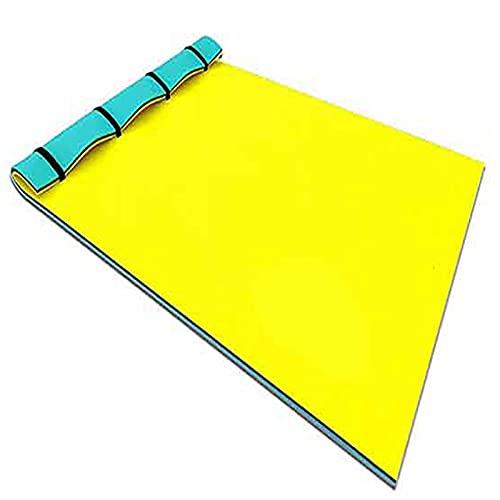 JSBAN Almohadilla Flotante Verano Nuevo Grande al Aire Libre Resistente al Aire Libre Espuma de Espuma de Espuma de Espuma de Espuma de Agua Manta Flotante (Color : Yellow)