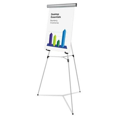 "Universal Heavy Duty Presentation Easel, 69"" Maximum Height, Metal, Silver"