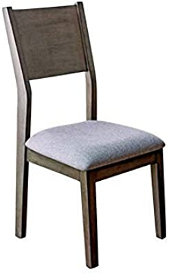 Amazon.com: Silla auxiliar de madera en tapicería de tela ...