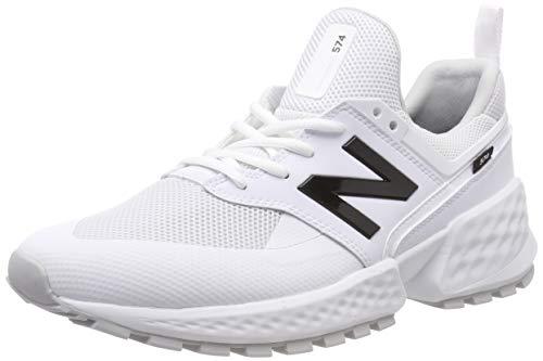 New Balance Herren 574S v2 Sneaker, Weiß (White/White Ktc), 44 EU