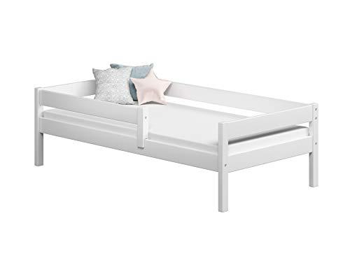 Children's Beds Home Camas Individuales para niños Niños Niño pequeño Junior Sin cajones Sin colchón Incluido (140x70, Blanco)