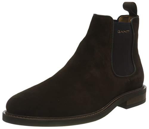 GANT FOOTWEAR Herren ST AKRON Chelsea-Stiefel, dark brown, 41 EU