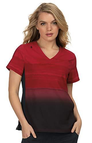 Koi Lite Women's 370L Reform V-Neck Scrub Top-Ruby/Black Gemstone-Medium