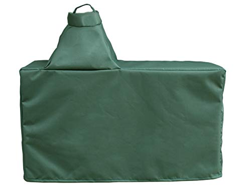 """Mini Lustrous Cover for Large Big Green Egg, Large Ceramic Egg Type Kamado Table Cover with Heavy Duty and Waterproof Fabric, Large(60""""Lx27""""Wx31""""H)"""