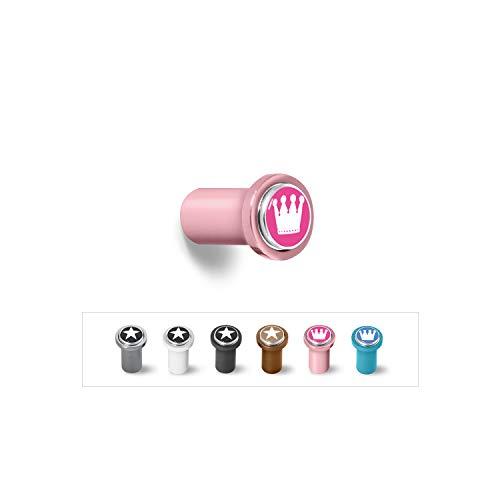 qLes Click-Stick Halter 34mm, Garderobenhaken, Handtuchhaken, Kleiderhaken, 1x Click...
