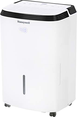Honeywell Medium Basement & Room Up to 3000 Sq. Ft, TP50AWKN Smart Wi-Fi Energy Star Dehumidifier, 50 Pint, White