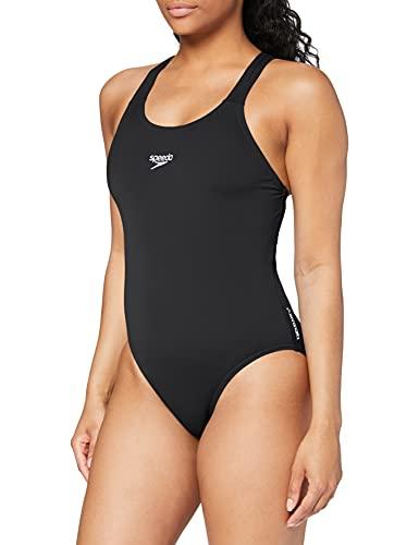 Speedo Damen Badeanzug Essential Endurance Plus Medalist, Schwarz, 38