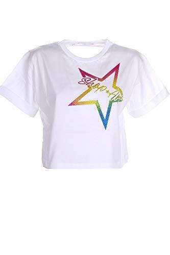 SHOP ART T-Shirt Donna M Bianco 21esh60865 1/21 Primavera Estate 2021